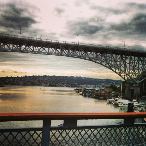 Morning run...view of Aurora Bridge from Fremont Bridge.
